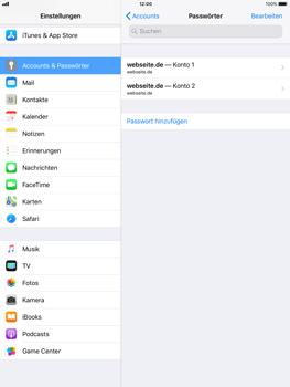 Apple iPad mini 2 - iOS 11 - Anmeldedaten hinzufügen/entfernen - 9 / 13