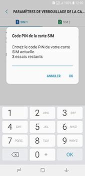 Samsung Galaxy J6 - Sécuriser votre mobile - Personnaliser le code PIN de votre carte SIM - Étape 9
