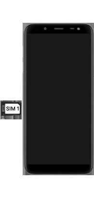 Samsung galaxy-j6-sm-j600fn-ds - Instellingen aanpassen - SIM-Kaart plaatsen - Stap 4