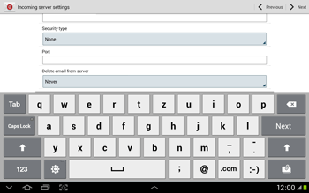 Samsung Galaxy Tab 2 10.1 - E-mail - Manual configuration - Step 9