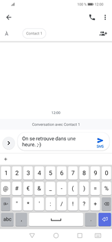 Huawei P30 lite - Contact, Appels, SMS/MMS - Envoyer un SMS - Étape 7