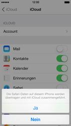Apple iPhone 5 iOS 7 - Apps - Konfigurieren des Apple iCloud-Dienstes - Schritt 6