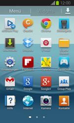 Samsung Galaxy Express - Startanleitung - Installieren von Widgets und Apps auf der Startseite - Schritt 4