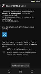 Sony Xperia Z - Téléphone mobile - Réinitialisation de la configuration d
