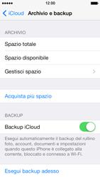 Apple iPhone 5 iOS 7 - Applicazioni - Configurazione del servizio Apple iCloud - Fase 12