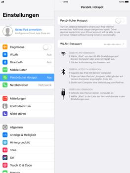 Apple iPad Pro 9.7 inch - Internet - Mobilen WLAN-Hotspot einrichten - 7 / 9