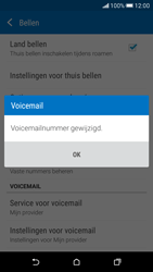 HTC Desire 626 - Voicemail - Handmatig instellen - Stap 8