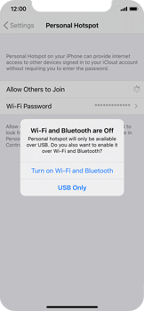 Apple iPhone XS - iOS 14 - WiFi - How to enable WiFi hotspot - Step 7