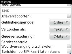 BlackBerry 9360 Curve - SMS - Handmatig instellen - Stap 5