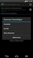 LG G Flex - Anrufe - Anrufe blockieren - 8 / 12