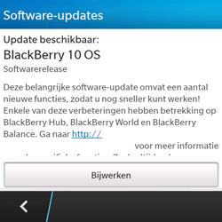 BlackBerry Q5 - Software update - update installeren zonder PC - Stap 5