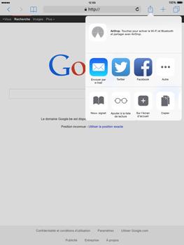 Apple iPad mini 2 - iOS 8 - Internet et roaming de données - Navigation sur Internet - Étape 6