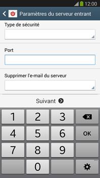 Samsung Galaxy Note III LTE - E-mail - configuration manuelle - Étape 10