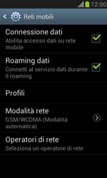 Samsung Galaxy S III Mini - Internet e roaming dati - Disattivazione del roaming dati - Fase 6