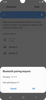 Samsung Galaxy A50 - Bluetooth - Connecting devices - Step 8