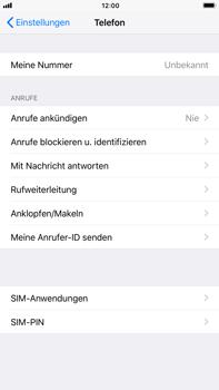 Apple iPhone 6s Plus - iOS 11 - Anrufe - Rufumleitungen setzen und löschen - Schritt 4