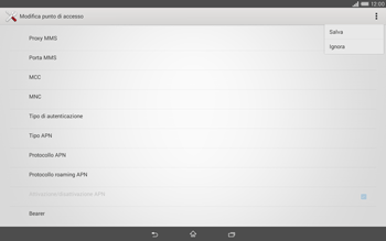 Sony Xperia Tablet Z2 LTE - Internet e roaming dati - Configurazione manuale - Fase 15