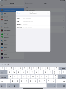 Apple iPad Pro 12.9 (2nd gen) - iPadOS 13 - E-mail - manual configuration - Step 7