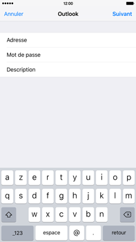 Apple iPhone 6 Plus iOS 9 - E-mail - 032c. Email wizard - Outlook - Étape 7
