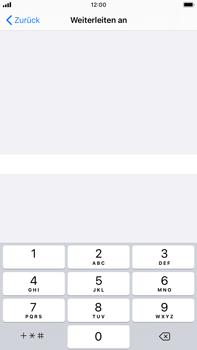 Apple iPhone 8 Plus - iOS 13 - Anrufe - Rufumleitungen setzen und löschen - Schritt 7