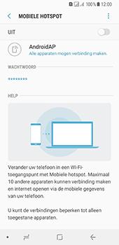 Samsung Galaxy A8 (2018) (SM-A530F) - WiFi - Mobiele hotspot instellen - Stap 11