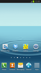 Samsung Galaxy S III - Getting started - Installing widgets and applications on your start screen - Step 9