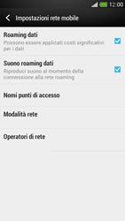 HTC One Mini - Internet e roaming dati - Disattivazione del roaming dati - Fase 5