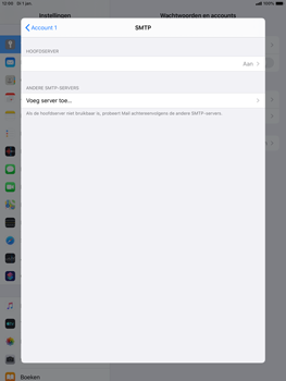 Apple ipad-air-10-5-inch-2019-model-a2123-ipados-13 - E-mail - Account instellen (POP3 met SMTP-verificatie) - Stap 20