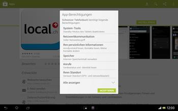 Sony Xperia Tablet Z LTE - Apps - Installieren von Apps - Schritt 8