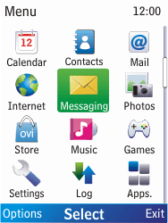 Nokia X2-00 - MMS - Sending pictures - Step 2