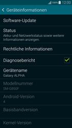 Samsung G850F Galaxy Alpha - Software - Installieren von Software-Updates - Schritt 6