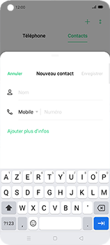 Oppo Find X2 Neo - Contact, Appels, SMS/MMS - Ajouter un contact - Étape 5