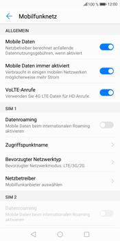 Huawei Mate 10 Lite - Netzwerk - Netzwerkeinstellungen ändern - Schritt 5