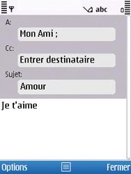 Nokia C5-00 - E-mail - envoyer un e-mail - Étape 7