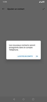 OnePlus 7 - Contact, Appels, SMS/MMS - Ajouter un contact - Étape 5
