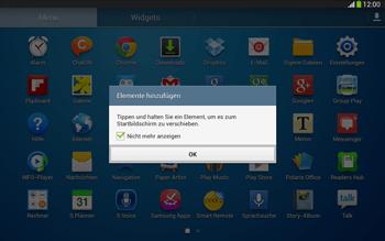 Samsung Galaxy Tab 3 10-1 LTE - Startanleitung - Installieren von Widgets und Apps auf der Startseite - Schritt 5