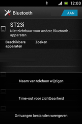 Sony ST23i Xperia Miro - bluetooth - aanzetten - stap 7