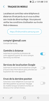 Samsung Galaxy A6 - Appareil - configurer Localiser mon appareil - Étape 7