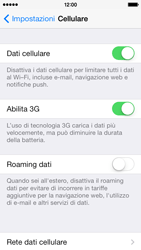 Apple iPhone 5c - Internet e roaming dati - come verificare se la connessione dati è abilitata - Fase 5