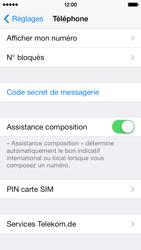 Apple iPhone 5c - Sécuriser votre mobile - Personnaliser le code PIN de votre carte SIM - Étape 4