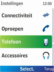 Nokia X2-00 - netwerk en bereik - gebruik in binnen- en buitenland - stap 4