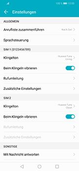 Huawei Honor Play - Anrufe - Rufumleitungen setzen und löschen - 5 / 9