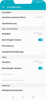 Huawei Honor Play - Anrufe - Rufumleitungen setzen und löschen - Schritt 5