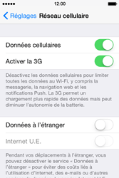 Apple iPhone 4S (iOS 8) - Internet et connexion - Désactiver la connexion Internet - Étape 4