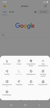 Samsung Galaxy Note 20 Ultra 5G - Internet und Datenroaming - Verwenden des Internets - Schritt 22