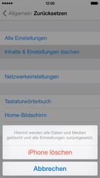 Apple iPhone 5c - Gerät - zurücksetzen auf die Werkseinstellungen - Schritt 7