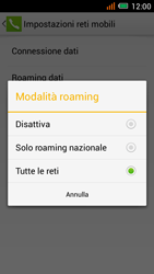 Alcatel One Touch Idol Mini - Internet e roaming dati - disattivazione del roaming dati - Fase 7