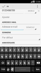 Bouygues Telecom Ultym 5 II - Contact, Appels, SMS/MMS - Ajouter un contact - Étape 11