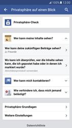 Samsung Galaxy S7 - Datenschutz und Sicherheit - Datenschutzeinstellungen von Facebook ändern - 21 / 35