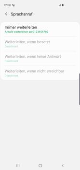 Samsung Galaxy S10 - Anrufe - Rufumleitungen setzen und löschen - 14 / 15